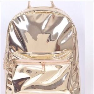 Beautiful fashion mirror metallic backpack